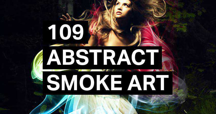 Smoke Art abstract photoshop brush pack set adobe