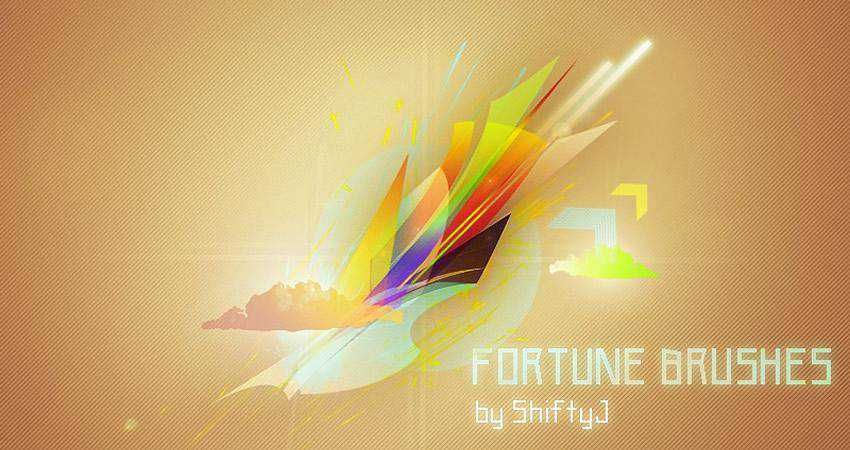 Fortune free abstract photoshop brush pack set adobe