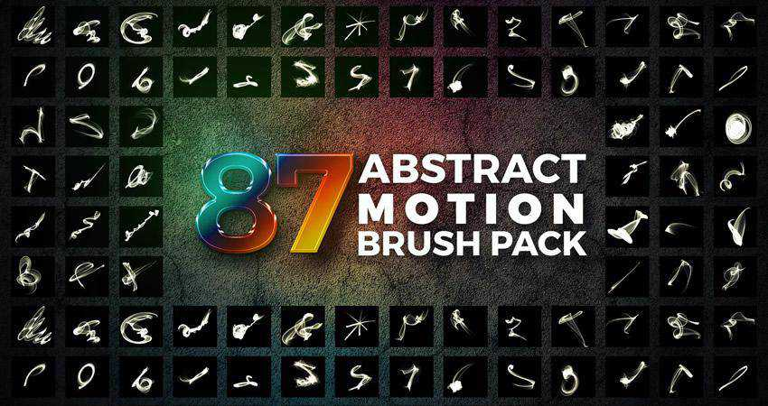 Motion abstract photoshop brush pack set adobe