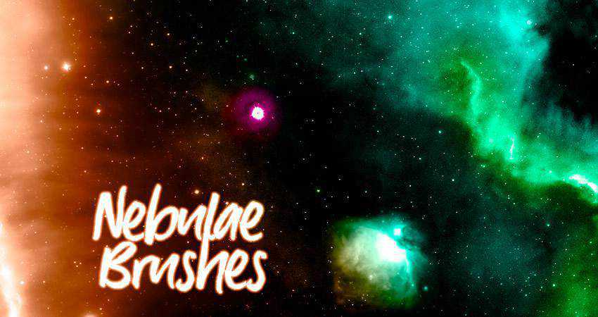 Nebulae free abstract photoshop brush pack set adobe