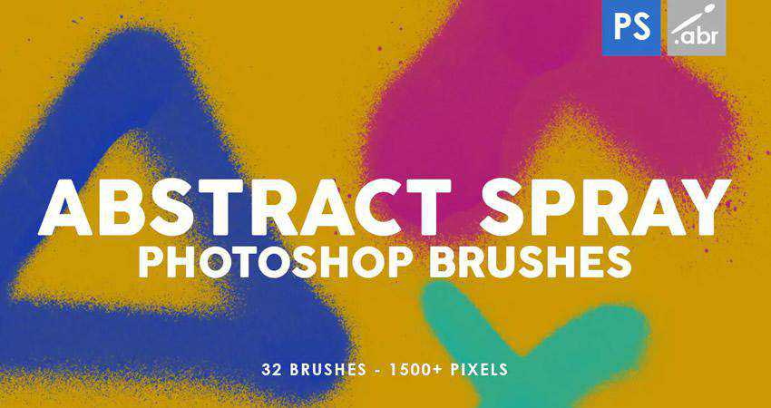 Spray Stamp abstract photoshop brush pack set adobe