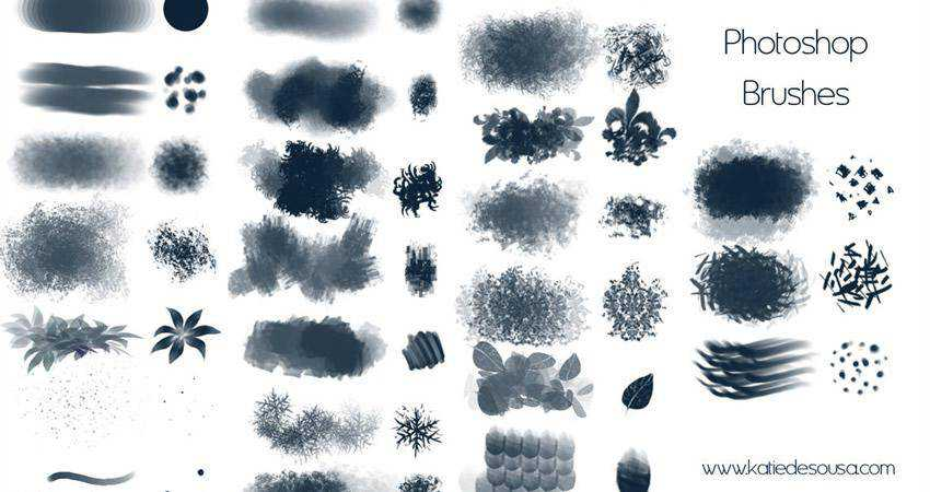 free abstract photoshop brush pack set adobe