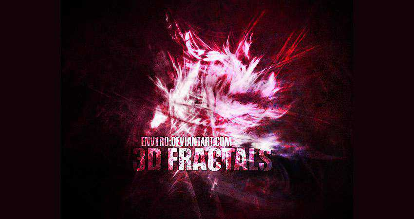 3D Fractals free abstract photoshop brush pack set adobe
