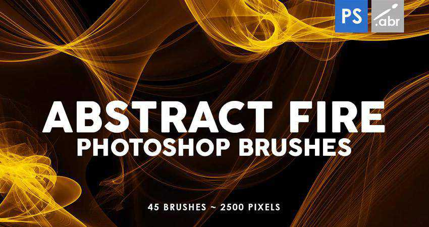Fire Photoshop Stamp abstract photoshop brush pack set adobe