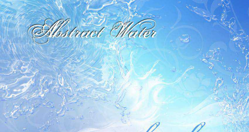 Water free abstract photoshop brush pack set adobe