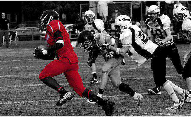 b and w shot coloring HHP Homecoming Football