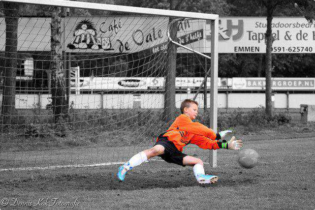 b and w shot coloring Goalkeeper