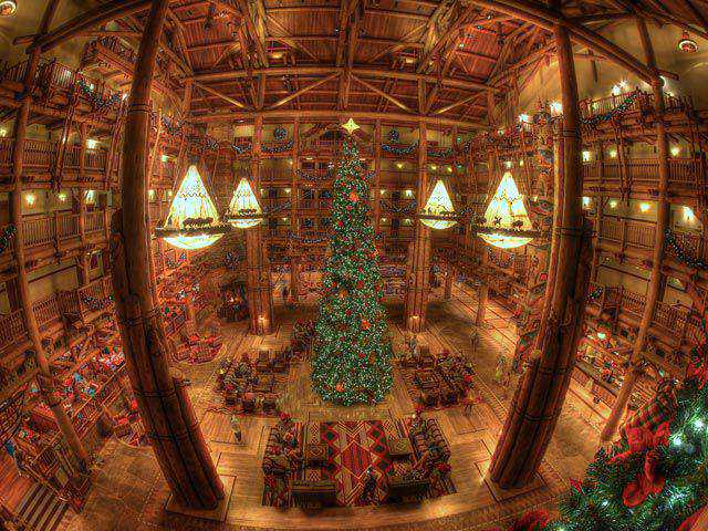 Disney's Wilderness Lodge HDR in a gallery of Seasonal and Christmas Photography