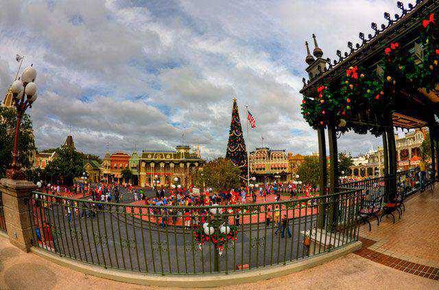 Disney's Main Street Christmas HDR in a gallery of Seasonal and Christmas Photography