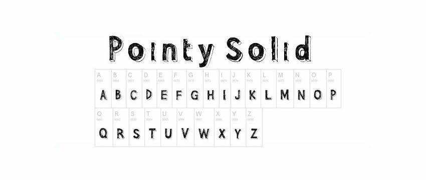 Pointy Solid Chunky 3d Free Font