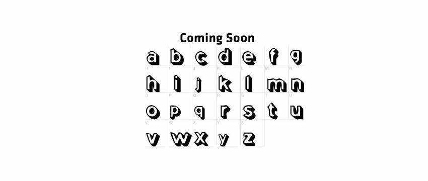 Coming Soon Chunky 3d Free Font