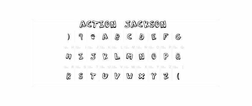 Action Jackson Chunky 3d Free Font