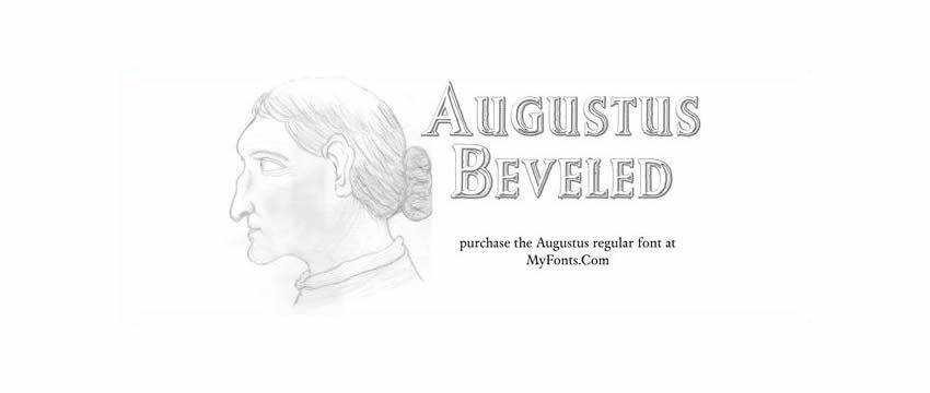 Augustus Beveled Chunky 3d Free Font