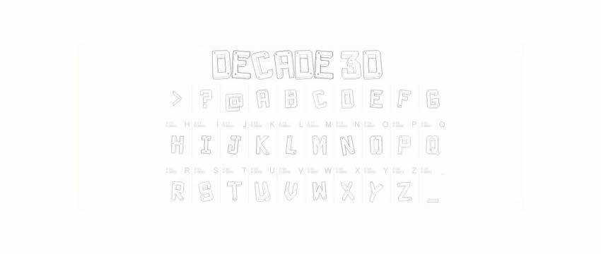 Decade 3D Font Chunky 3d Free Font