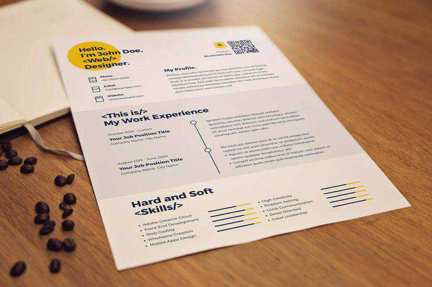 resume cv job creative design inspiration