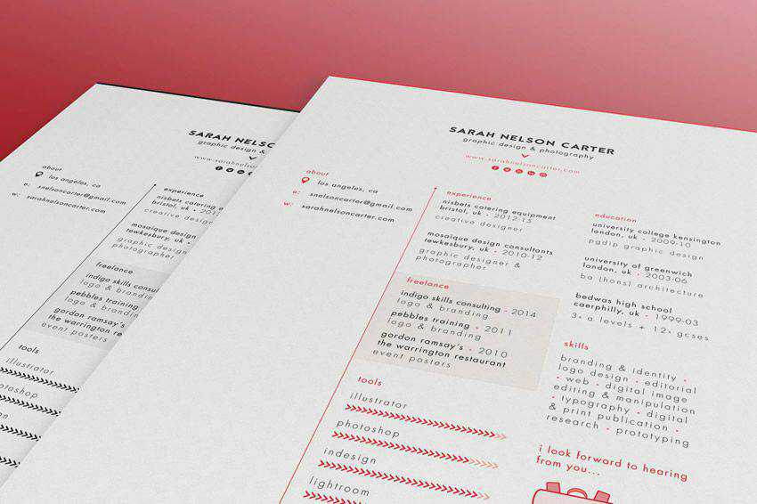 resume cv job creative design inspiration 2015