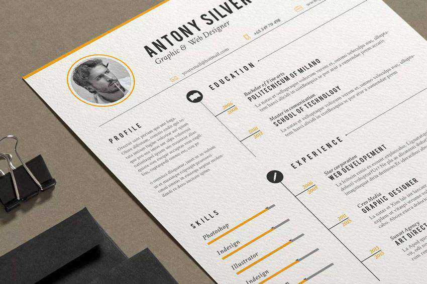 resume cv job creative design inspiration The Resume