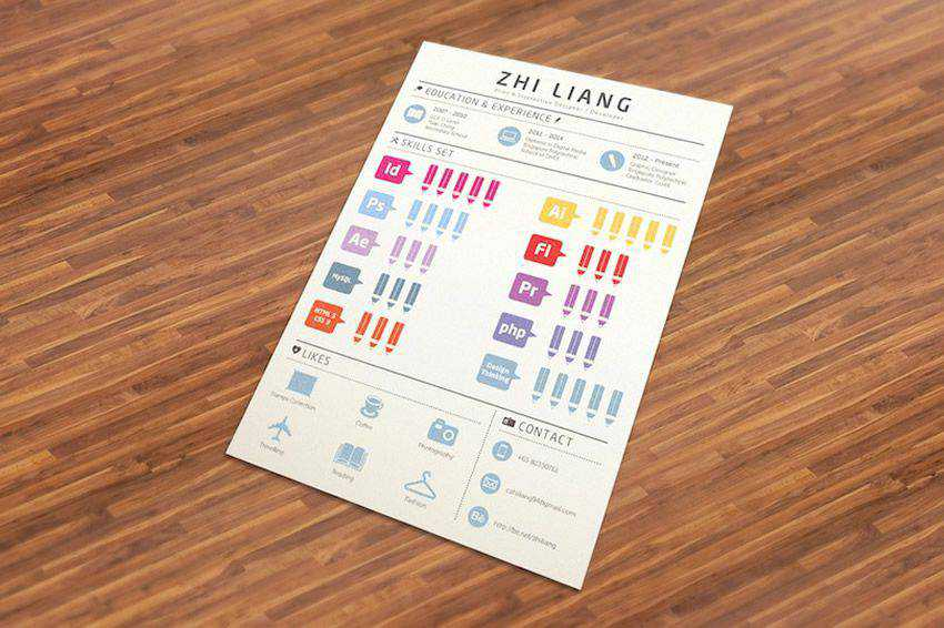 resume cv job creative design inspiration Infographic