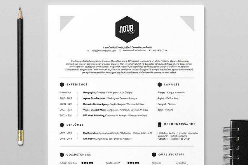 resume cv job creative design inspiration NovaGraphix Resume
