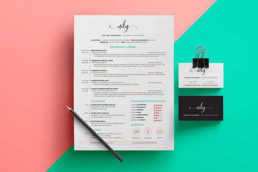 resume cv job creative design inspiration Personal Branding