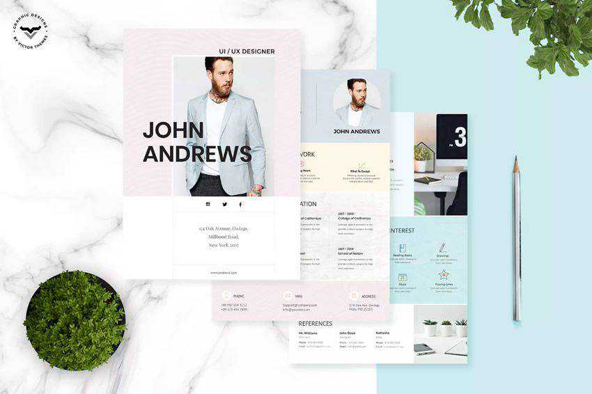 resume cv job creative design inspiration Business