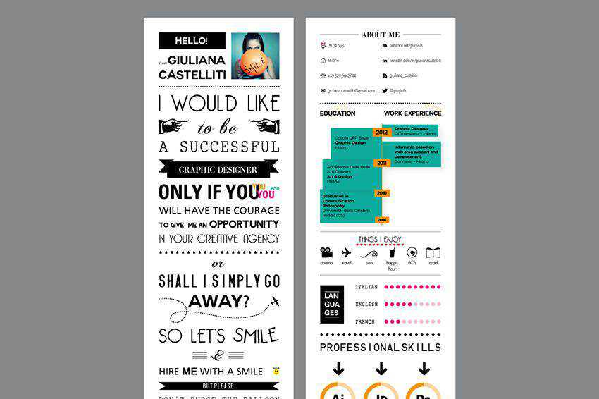 resume cv job creative design inspiration Curriculum Vitae