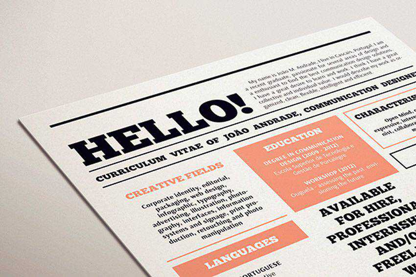 resume cv job creative design inspiration my