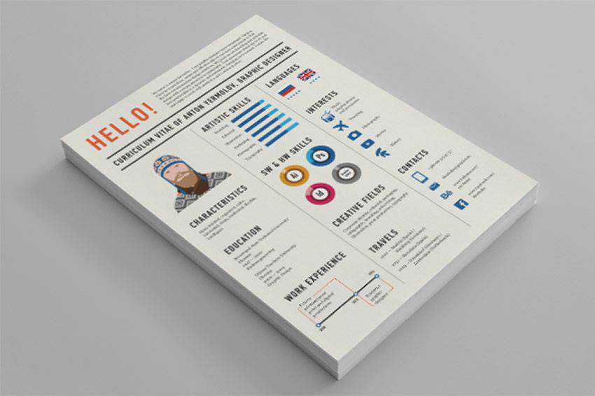 Curriculum Vitae resume cv job creative design inspiration