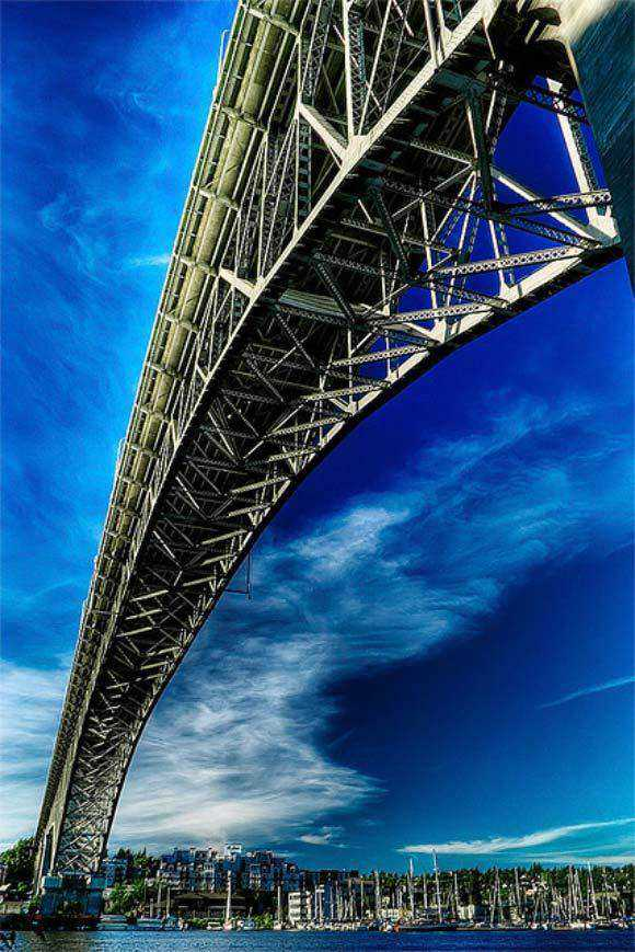 unusual creative angle shot photography gallery Aurora Bridge In Fremont example of Photography taken from an Unusual Angle