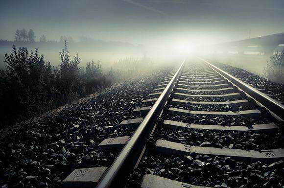 unusual creative angle shot photography gallery The Night Tracks example of Photography taken from an Unusual Angle