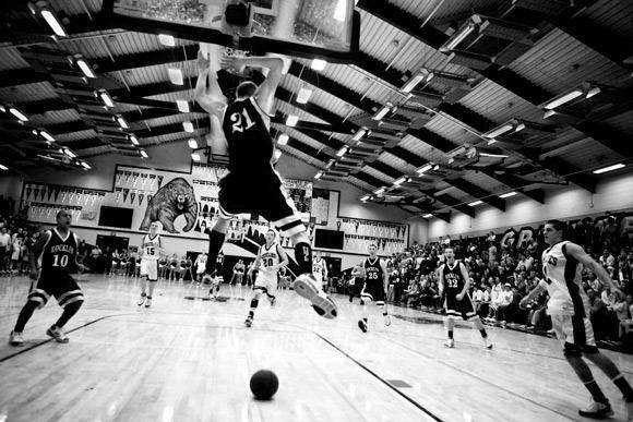 unusual creative angle shot photography gallery Rocklin vs. Granite Bay Boys Basketball camera original and angle image