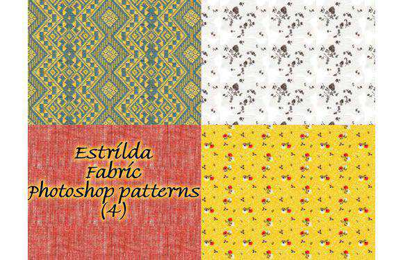 Fabric patterns by Stock Estrilda free for Photoshop PAT