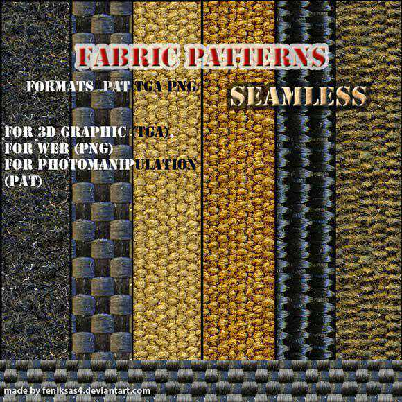 Seamless fabric patterns free for Photoshop PAT