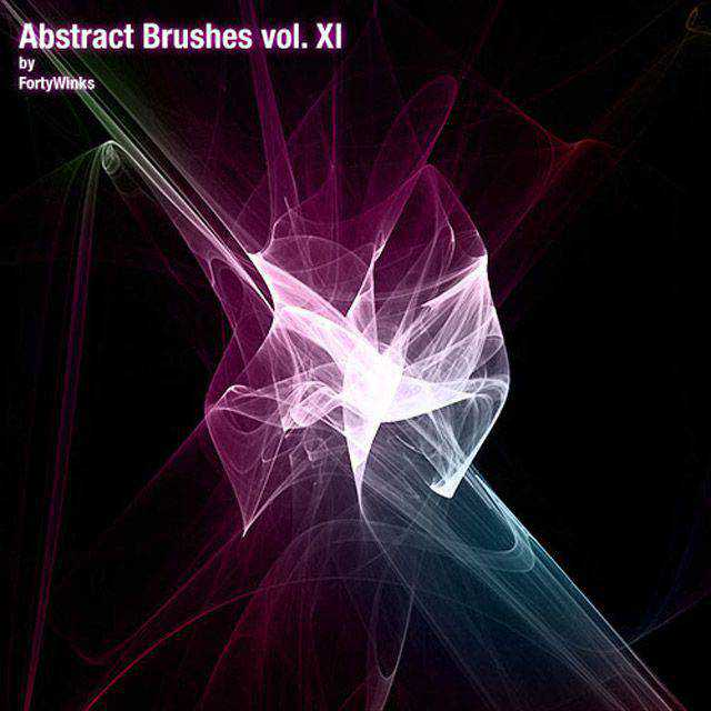 Abstract Brush Pack photoshop brushes free fractal