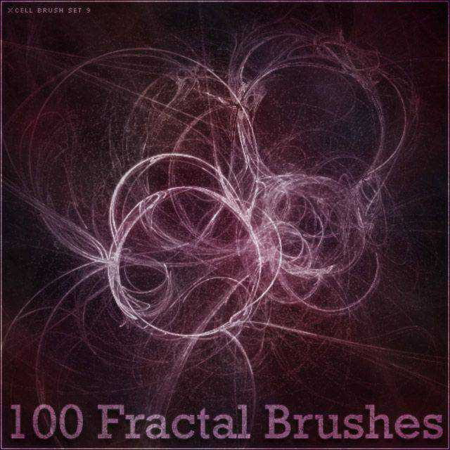 X-Cell Brush Set photoshop brushes free fractal