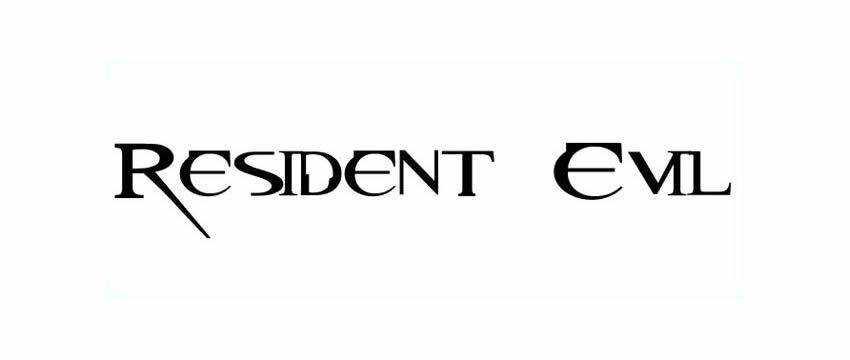 Resident Evil Fonts free