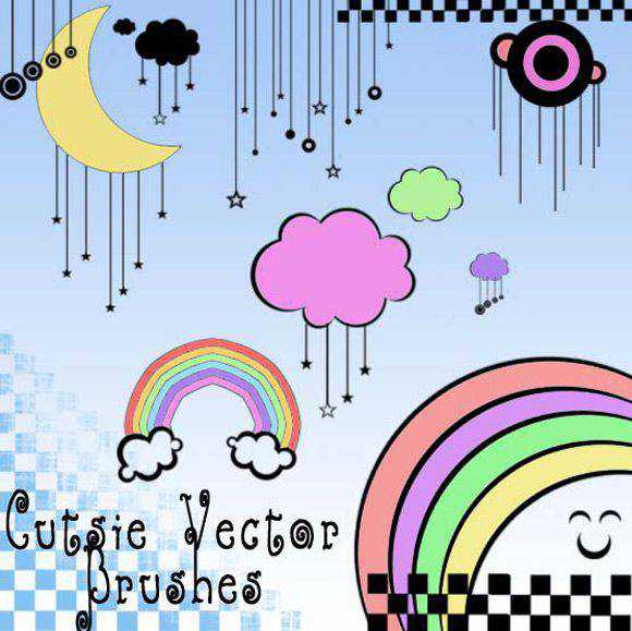 Photoshop Cutsie Vector scribble doodle