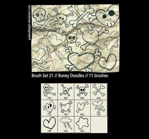 Photoshop Boney Doodles scribble doodle