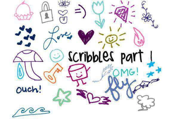 Photoshop Doodles Part 1 scribble doodle