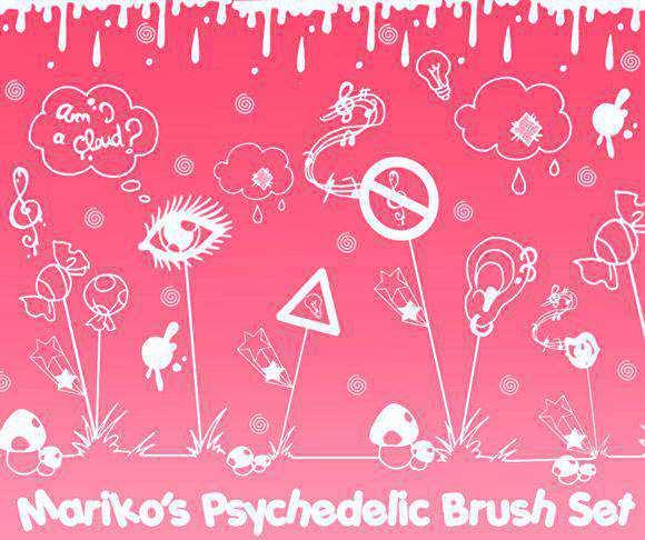 Photoshop Mariko's Psychedelic BrushSet scribble doodle