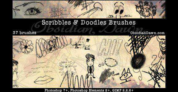 Photoshop Scribbles and Doodles Brushes scribble doodle