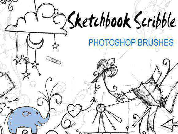 Photoshop Sketchbook Scribble Brushes scribble doodle