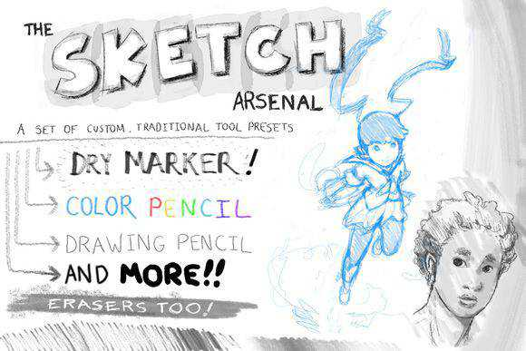 Photoshop The Sketch Arsenal scribble doodle