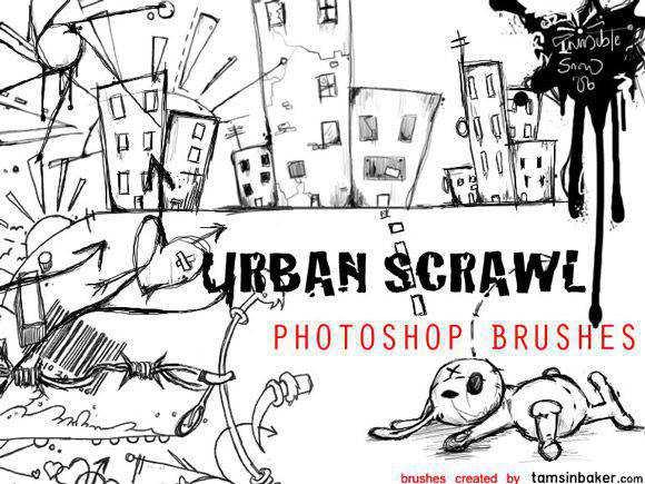 Photoshop Urban Scrawl Photoshop Brushes scribble doodle