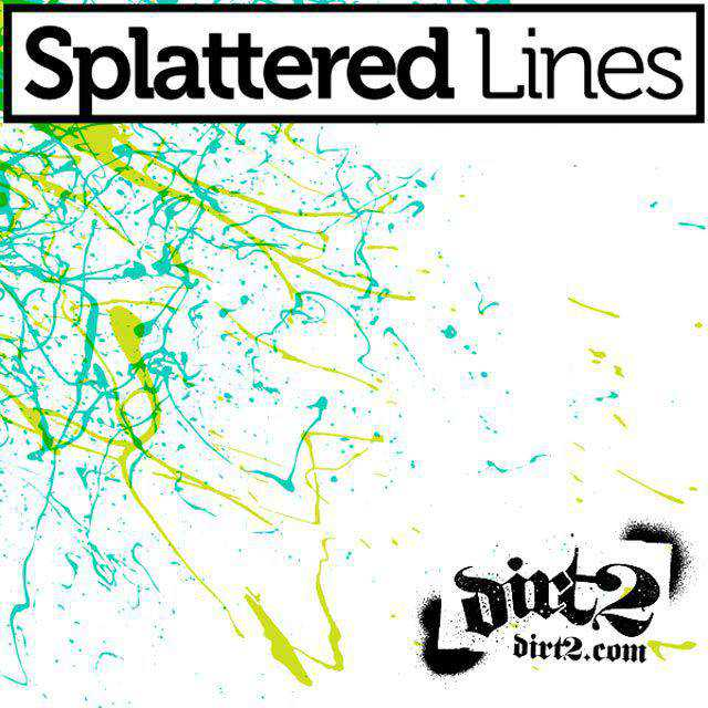 Splatter Line Brush Strokes