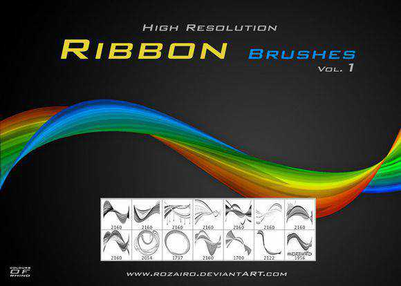 Photoshop Brushes free designers Ribbon Brushes
