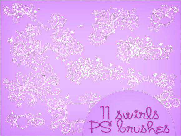 Photoshop Brushes free designers Swirls Brushes