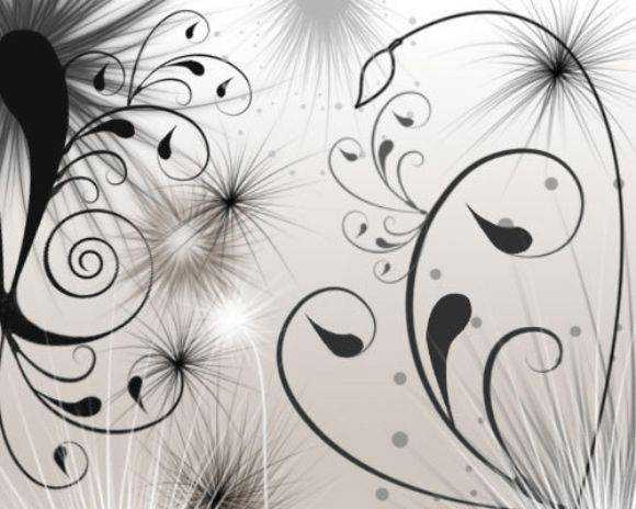 Photoshop Brushes free designers Swirls and Seeds Photoshop Brushes