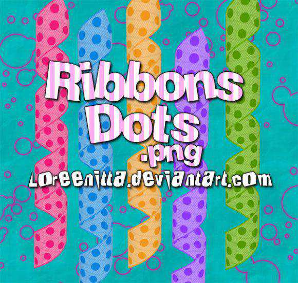 Photoshop Brushes free designers Ribbons Dots