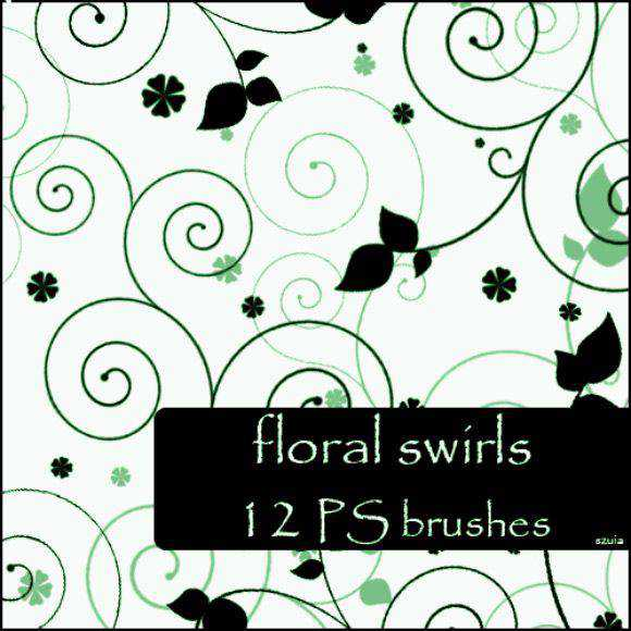Photoshop Brushes free designers Floral Swirls Brushes